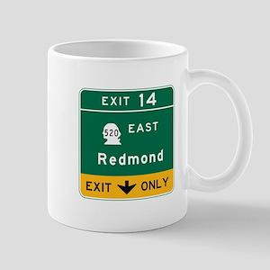 Redmond, WA Road Sign Mug
