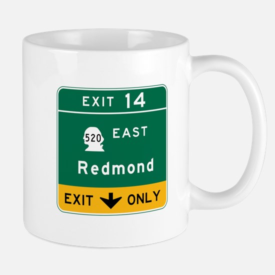 Redmond, WA Road Sign Mug