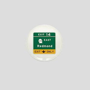 Redmond, WA Road Sign Mini Button
