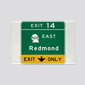 Redmond, WA Road Sign Rectangle Magnet