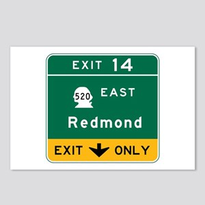 Redmond, WA Road Sign Postcards (Package of 8)
