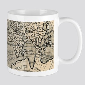 Vintage Map of The World (1598) Mugs