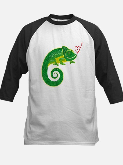Chameleon with heart. Baseball Jersey