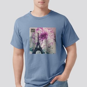 floral paris eiffel tower art T-Shirt