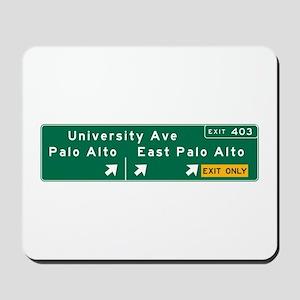 Palo Alto, CA Sign Mousepad