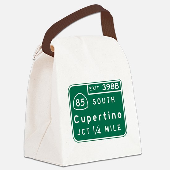 Cupertino, CA Road Sign Canvas Lunch Bag