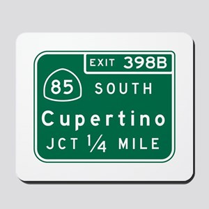 Cupertino, CA Road Sign Mousepad