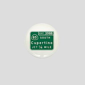Cupertino, CA Road Sign Mini Button