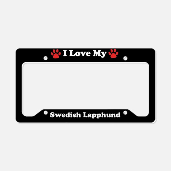 I Love My Swedish Lapphund Dog License Plate Holde
