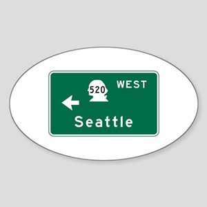 Seattle, WA Road Sign Sticker (Oval)