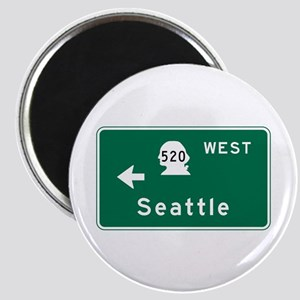 Seattle, WA Road Sign Magnet