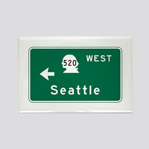 Seattle, WA Road Sign Rectangle Magnet