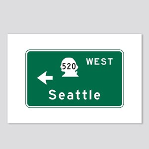 Seattle, WA Road Sign Postcards (Package of 8)