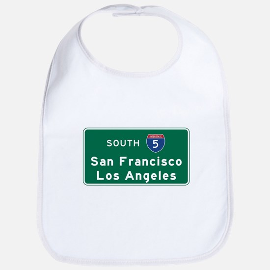 San Francisco/Los Angeles/I-5 Road Sign Bib