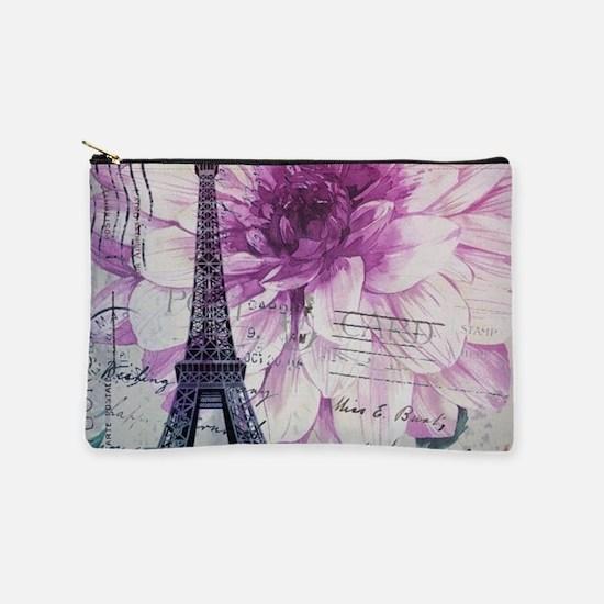 modern floral paris eiffel tower art Makeup Bag
