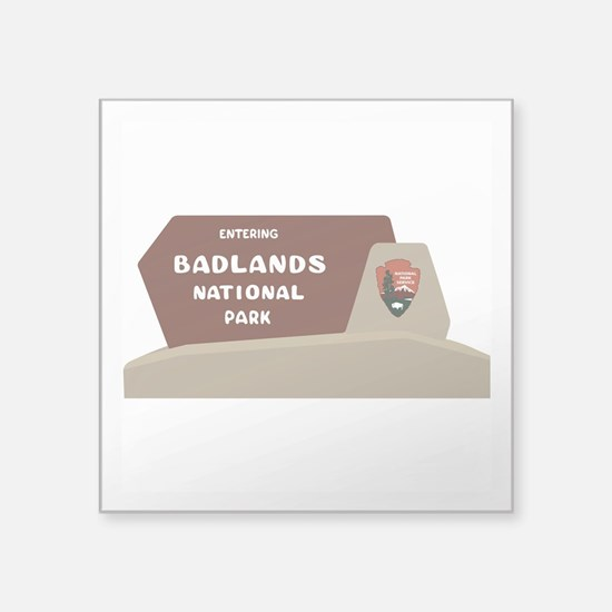 "Badlands National Park, Sou Square Sticker 3"" x 3"""