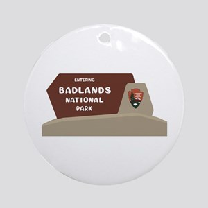 Badlands National Park, South Dakot Round Ornament