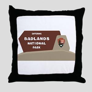 Badlands National Park, South Dakota, Throw Pillow