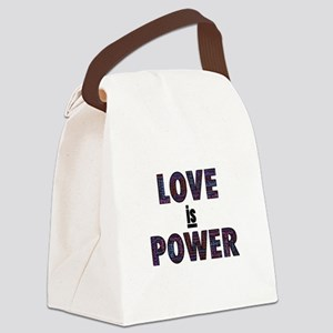 Love IS Power Canvas Lunch Bag