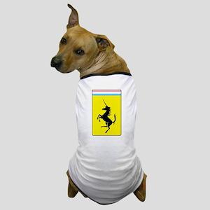 Trans Pride Prancing Unicorn Dog T-Shirt