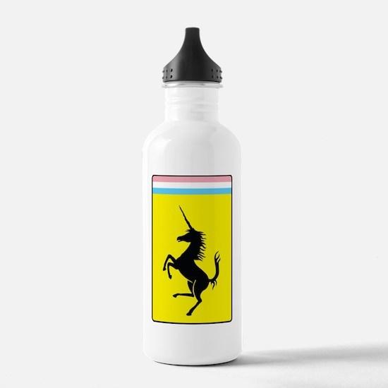 Trans Pride Prancing Unicorn Water Bottle