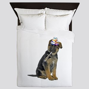 German Shepherd Party Queen Duvet