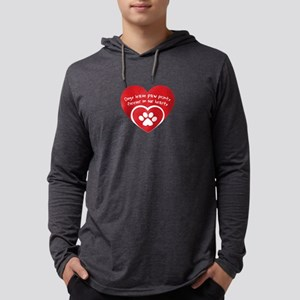 dogs leave paw prints forever Long Sleeve T-Shirt