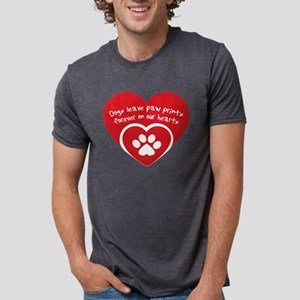 dogs leave paw prints forever on uor heart T-Shirt
