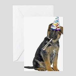 German Shepherd Party Greeting Cards