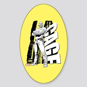 Luke Cage Black & White Sticker (Oval)