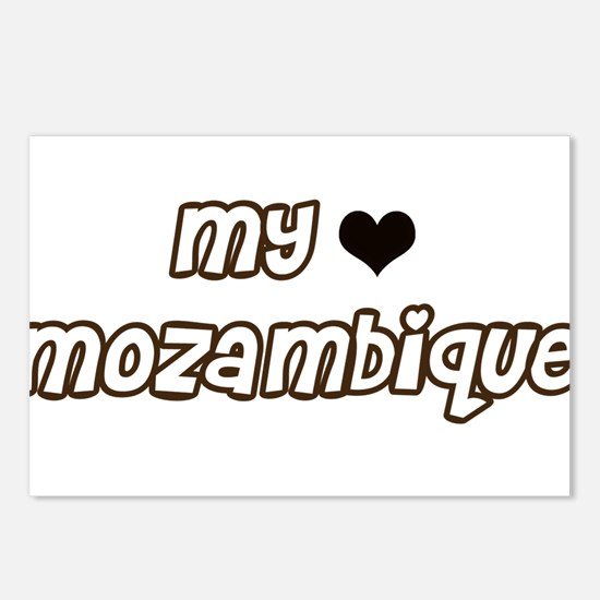 my heart Mozambique Postcards (Package of 8)