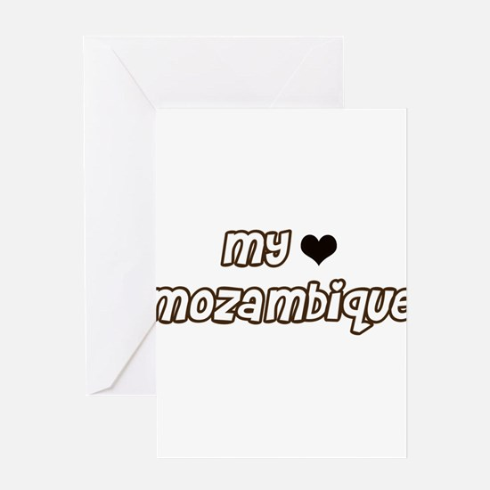 my heart Mozambique Greeting Card