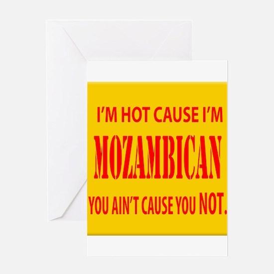 Hot Mozambican Greeting Card