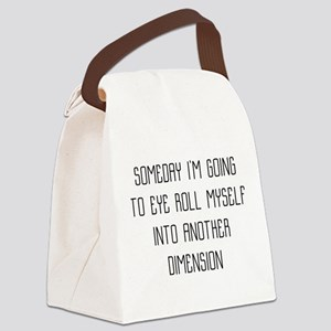 Eye Roll Another Dimension Canvas Lunch Bag