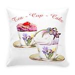 Tea Cupcake Everyday Pillow