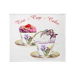 Tea Cupcake Throw Blanket
