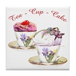 Tea Cupcake Tile Coaster