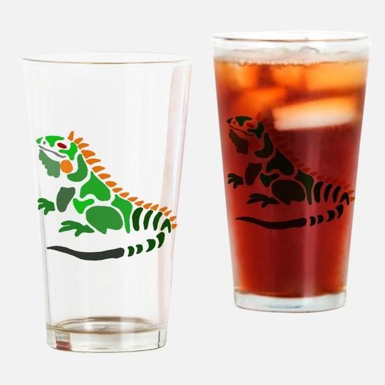 Cute Iguana Drinking Glass