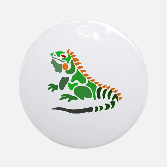 Cute Iguana Round Ornament