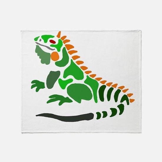 Cute Iguana Throw Blanket