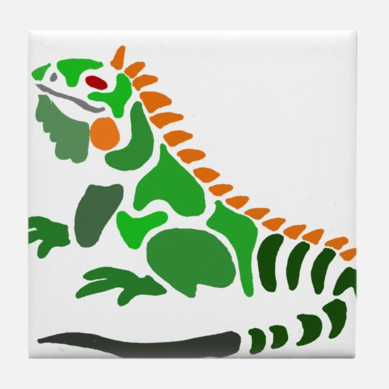 Artistic Iguana Tile Coaster
