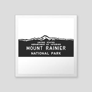 "Mount Rainier National Park Square Sticker 3"" x 3"""