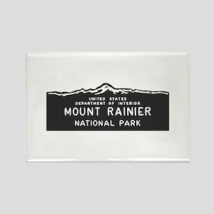 Mount Rainier National Park, Wash Rectangle Magnet