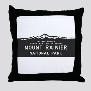 Mount Rainier National Park, Washingt Throw Pillow