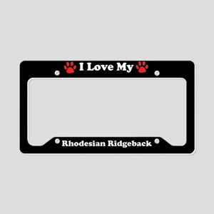 I Love My Rhodesian Ridgeback Dog License Plate Ho