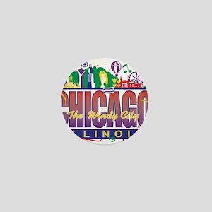Chicago Confetti Mini Button