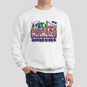 Chicago Confetti  Sweatshirt