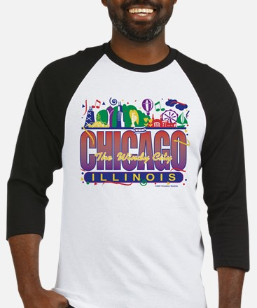 Chicago Confetti  Baseball Jersey
