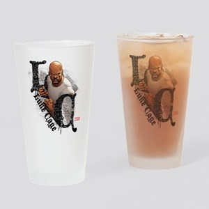 Luke Cage Initials Drinking Glass
