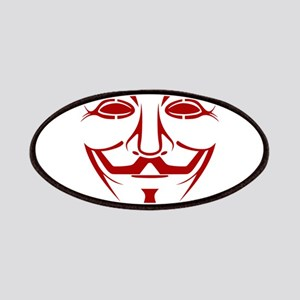 Red Guy Fawkes Mask Patch
